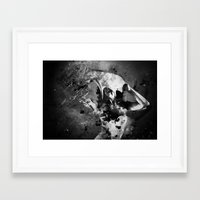 antler Framed Art Prints featuring Antler by Alice Ferox