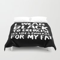 quote Duvet Covers featuring Quote. by Textures