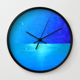Ocean & Waterdrops / Oil Painting Wall Clock