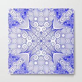 Mindful Mandala Pattern Tile MAPATI 185 Metal Print