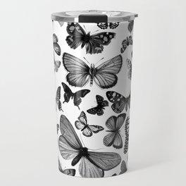 BUTTERFLY CLUSTER MONO Travel Mug
