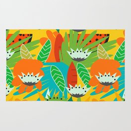 Watermelons and carrots Rug