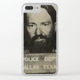 Nelson Willie Mugshot Clear iPhone Case