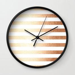Simply Striped Deep Bronze Amber Wall Clock