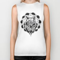 bad wolf Biker Tanks featuring Bad Wolf by Carina Maitch