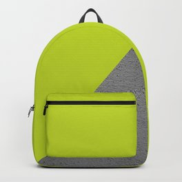 Cement Lime Diagonal Color Block Backpack