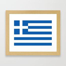 Flag of Greece, High Quality image Framed Art Print