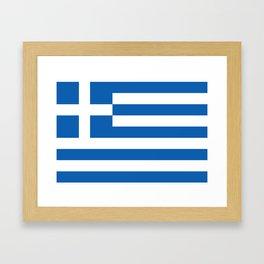 Flag of Greece Greek Framed Art Print