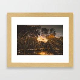Light Lasso Framed Art Print