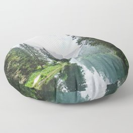 moody landscape Floor Pillow