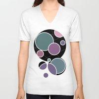 circles V-neck T-shirts featuring CIRCLES by VIAINA DESIGN