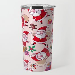 Santa Gift Pattern Travel Mug