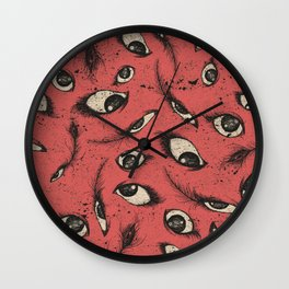 Pink Eye Wall Clock