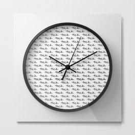 tick tock ~ white Metal Print