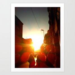 Afternoon Walks Art Print