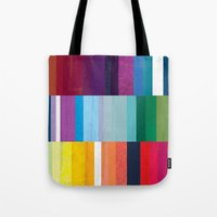 stripes Tote Bags featuring Stripes by Kakel
