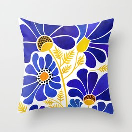 The Happiest Flowers Throw Pillow