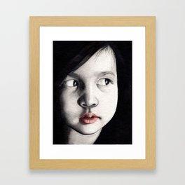 oriental girl Framed Art Print