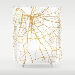 LOUISVILLE KENTUCKY CITY STREET MAP ART Shower Curtain