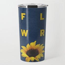 Concrete Sunflower Travel Mug