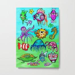 Sea Life Sampler Metal Print