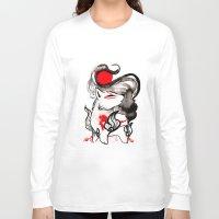 okami Long Sleeve T-shirts featuring Chibi Amaterasu Okami II by Rubis Firenos