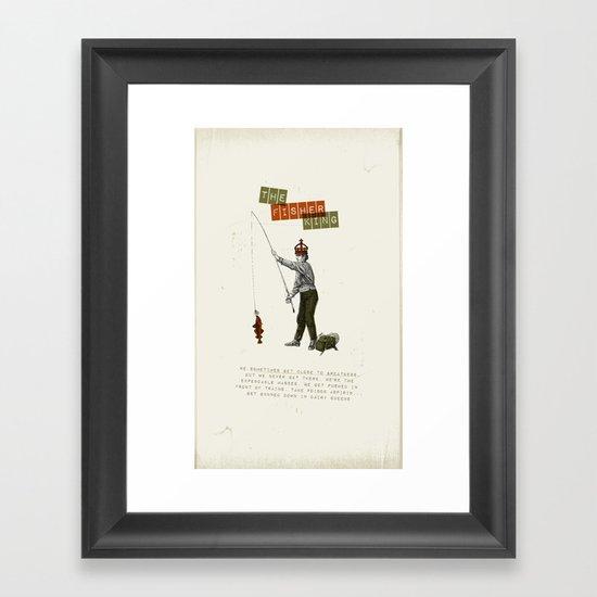 The fisher king Framed Art Print