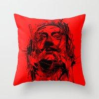 dali Throw Pillows featuring Dali by nicebleed