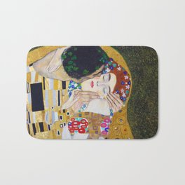 The Kiss by Kustav Klimt Bath Mat