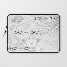 Illustration of Tennis Sport Scene Laptop Sleeve