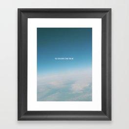 come find me Framed Art Print