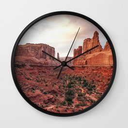 Fire Red Rock Formations in Utah Wall Clock
