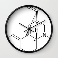 lsd Wall Clocks featuring LSD by unknown