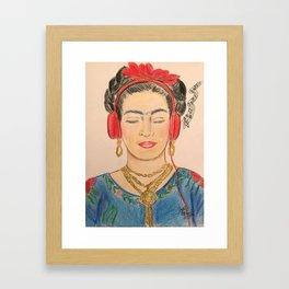 The Modernization of Frida Framed Art Print
