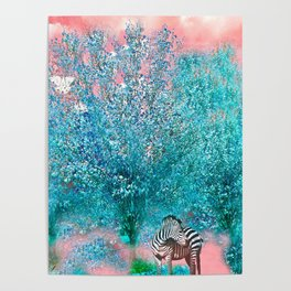 TREES AND ZEBRAS Poster