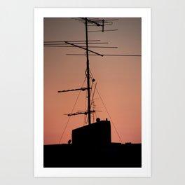 Antenna in its natural habitat Art Print