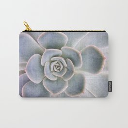 Nature Photography | Cactus Art | Pink and Blue Succulent | Plant | Botanical Carry-All Pouch