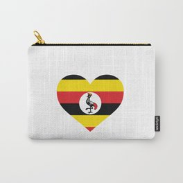 Uganda  love flag heart designs  Carry-All Pouch