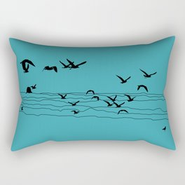 Seagull Beach by Seasons K Designs Rectangular Pillow