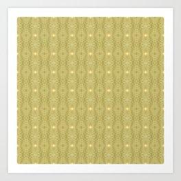 Golden Gossamer Web Digital Art Art Print