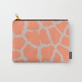 Giraffe pattern grey and pink Carry-All Pouch