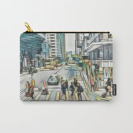 Textured Wan Chai Carry-All Pouch