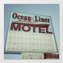 Ocean Liner Motel Canvas Print