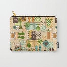 Retro Hidden Hawaiian Carry-All Pouch