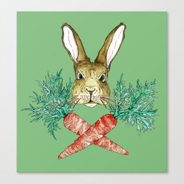 Born to be Bunny Canvas Print