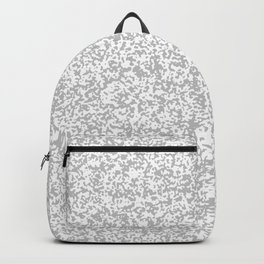 Tiny Spots - White and Silver Gray Backpack