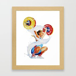 Bulking is a Feminist Act: Mattie Framed Art Print