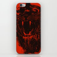 king iPhone & iPod Skins featuring The King by nicebleed