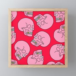 Pink Skull Framed Mini Art Print