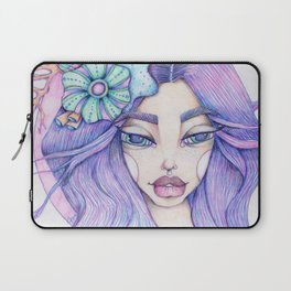 JennyMannoArt Colored Graphite/Keira the Mermaid Laptop Sleeve